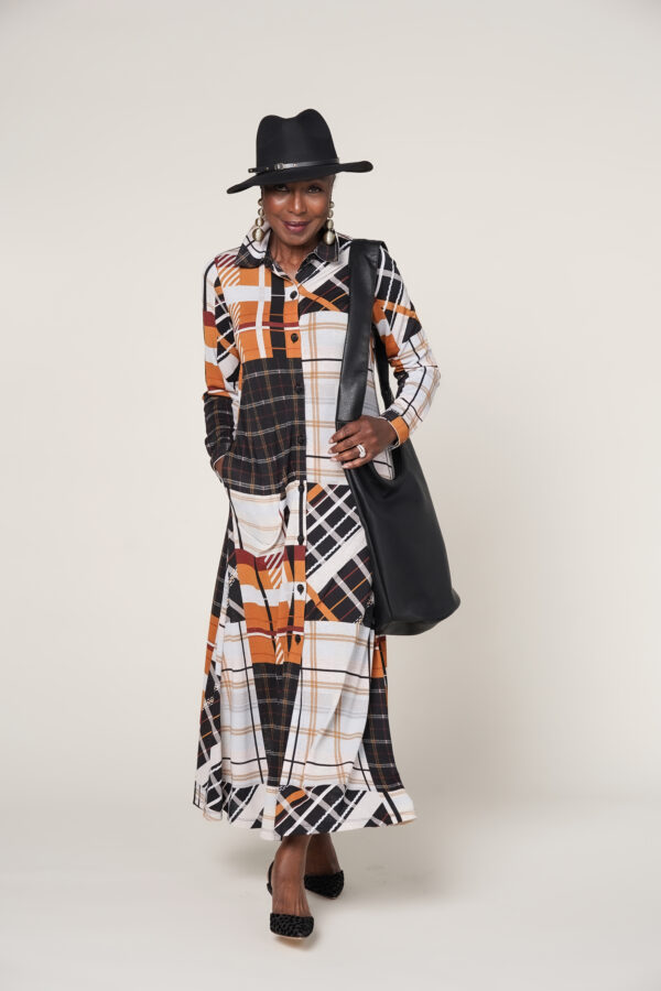 Maxi Dress & Duster Coat Set
