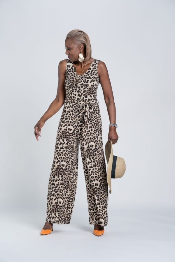 Attitudes By Renee Sleeveless Jumpsuit & Straw Hat
