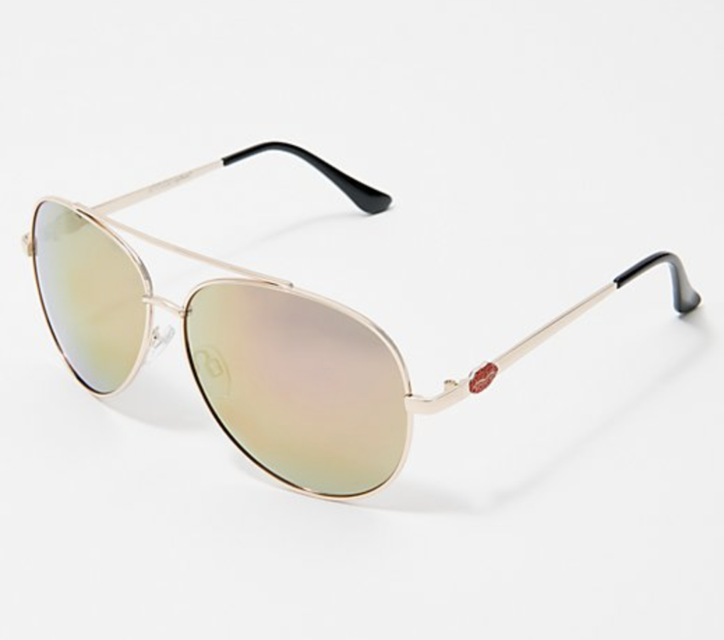 Attitudes by Renee Kiss Me Aviator Sunglasses