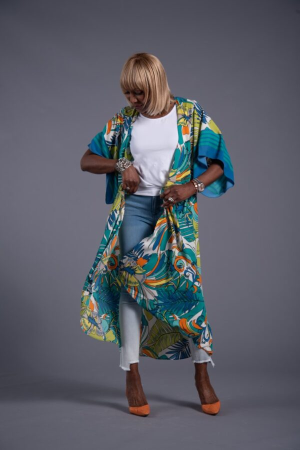 Attitudes by Renee Border Print Duster