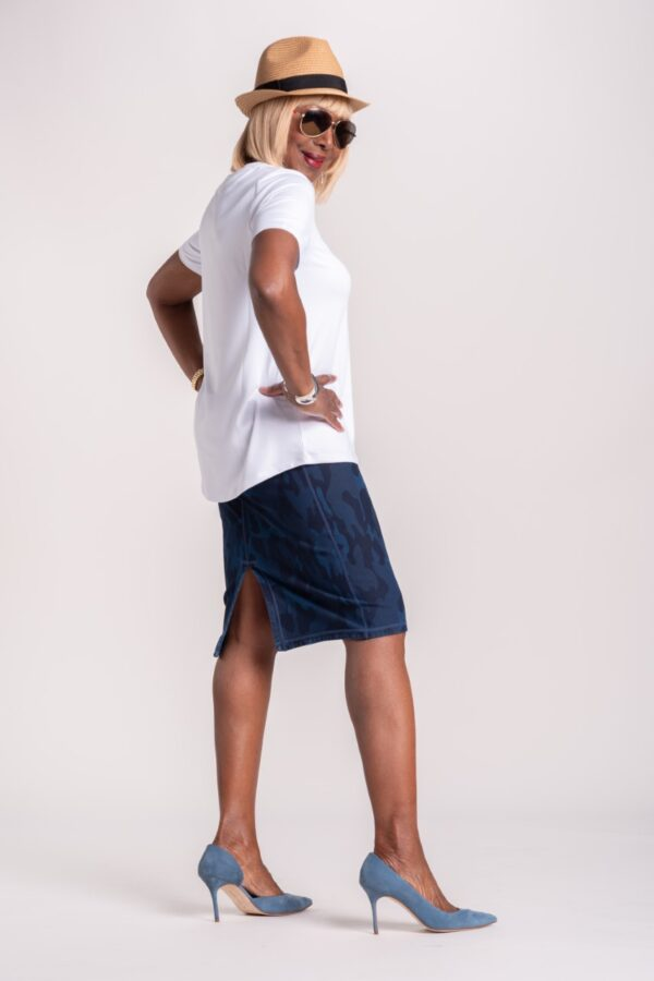 Reversible Prime Stretch Denim Skirt