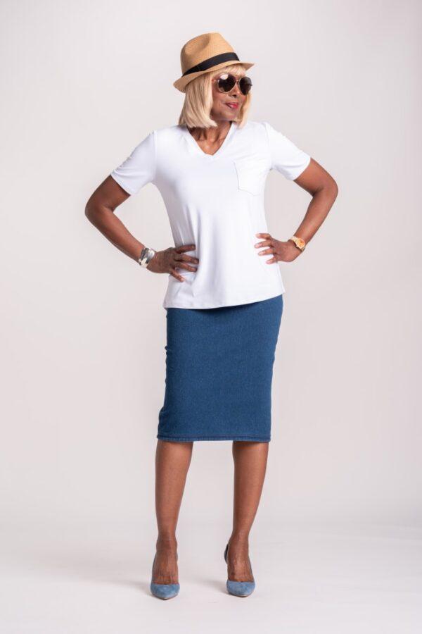 Reversible Prime Stretch Denim Skirt
