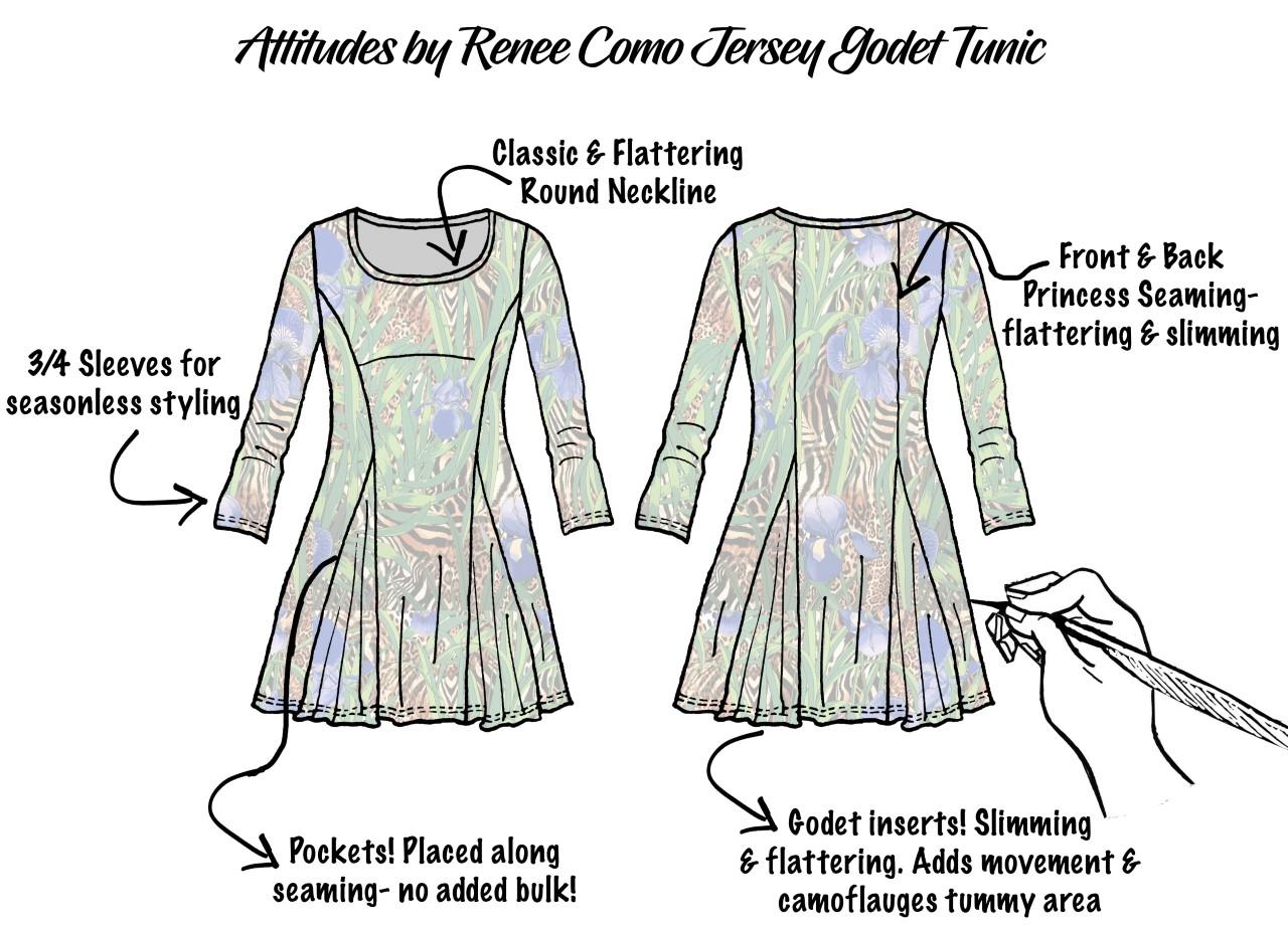 Illustration of Godet Tunic