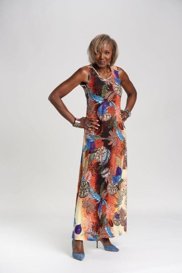 Set of 2 Printed & Solid Maxi Dresses
