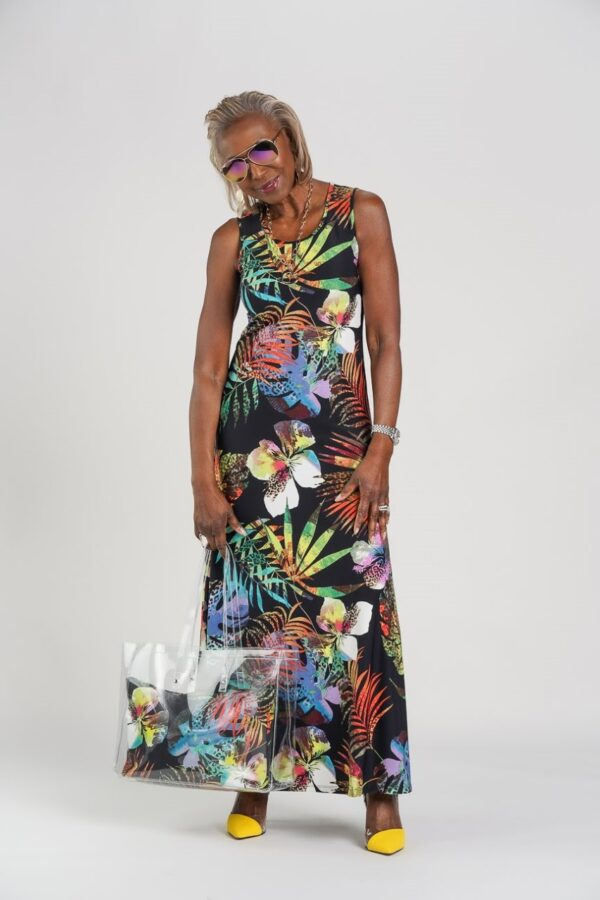 Set of 2 Printed & Solid Maxi Dresses