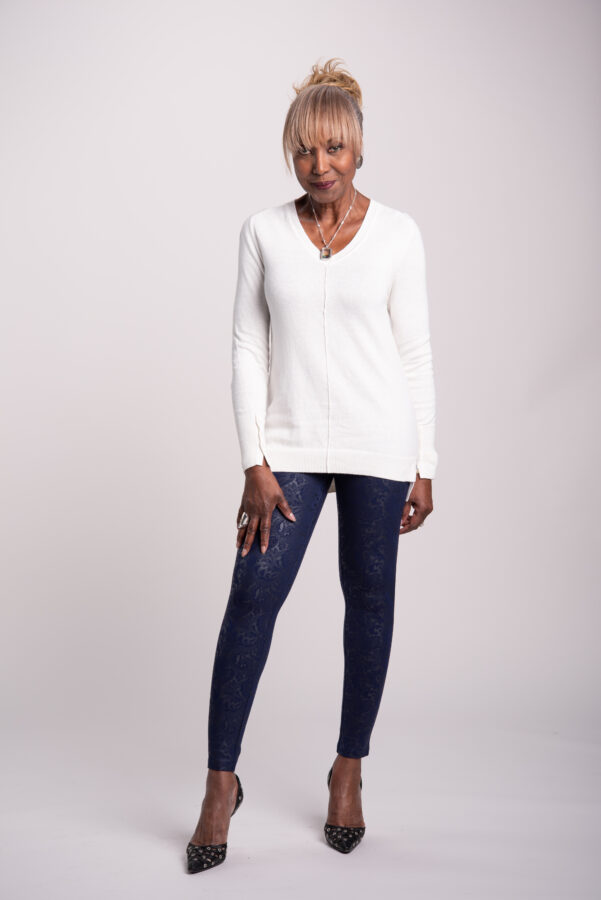 Attitudes by Renee Cotton and Cashmere Blend Sweater